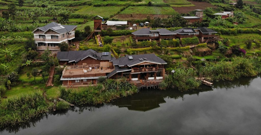 Accommodation in lake bunyonyi