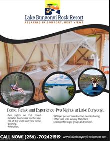 Offers at Lake Bunyonyi Rock Resort